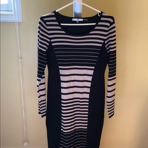Tan and Black sweater dress